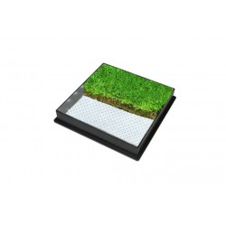 C-20 GrassTop Recessed Manhole Cover,450x450x80mm
