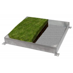 C-27 GrassTop Recessed Manhole Cover,900x900x100mm