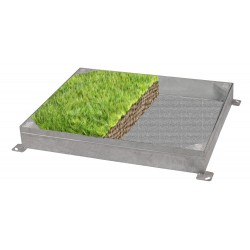 C-24 GrassTop Recessed Manhole Cover, 750x600x100mm